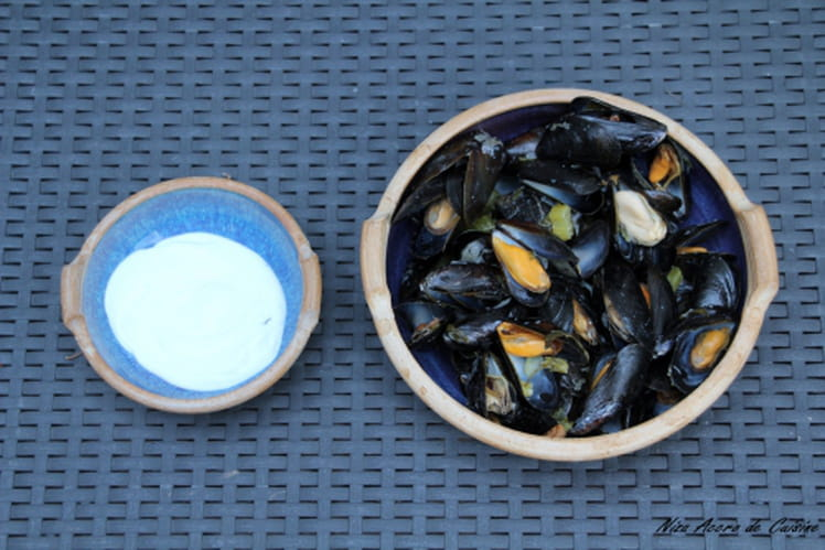 Moules express au Roquefort