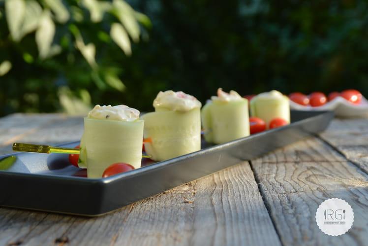 Bouchées apéritives au concombre et saumon