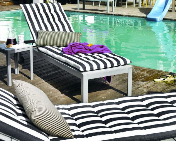 Coussins bain de soleil Hallö d'Ikea