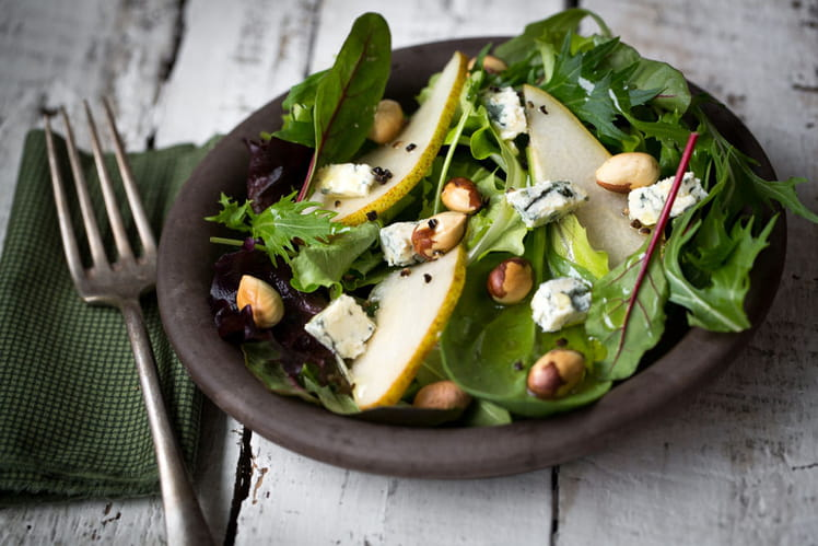 Salade de poires et bleu d'Auvergne