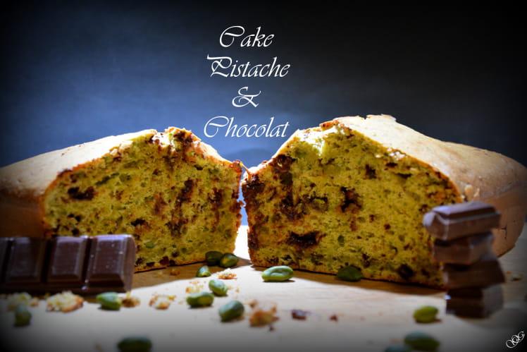 Cake Pistache et Chocolat au lait et noir