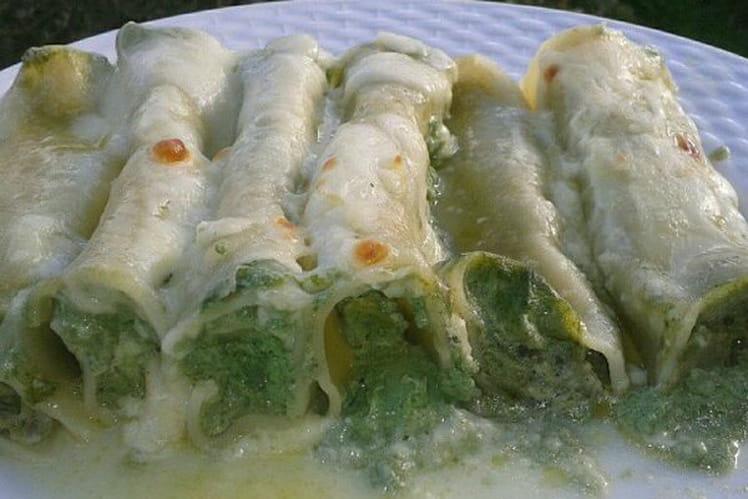 Cannellonis à la ricotta et aux épinards