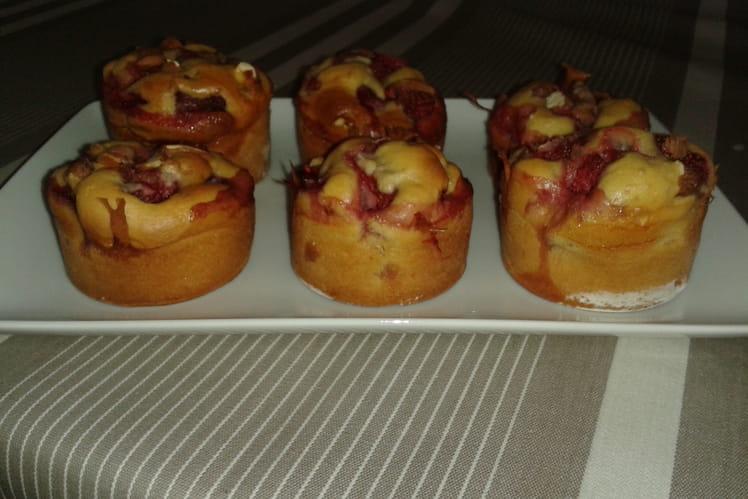 Muffins fraise noisette
