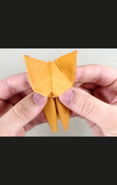 Origami chat - Etape 29