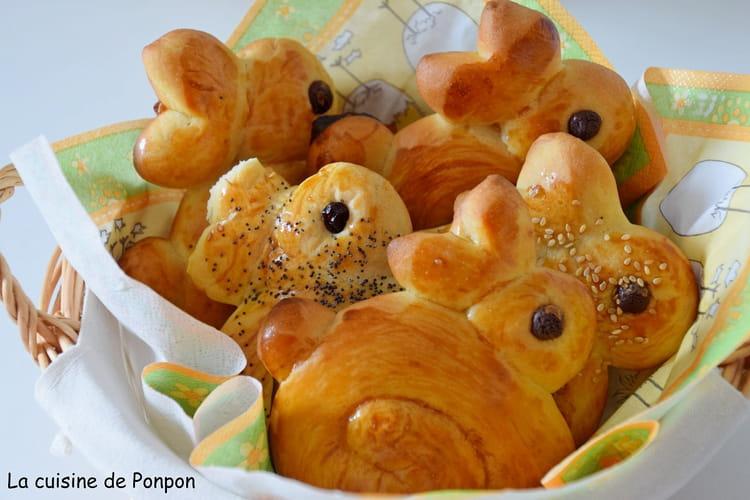 Brioche lapinou de Pâques