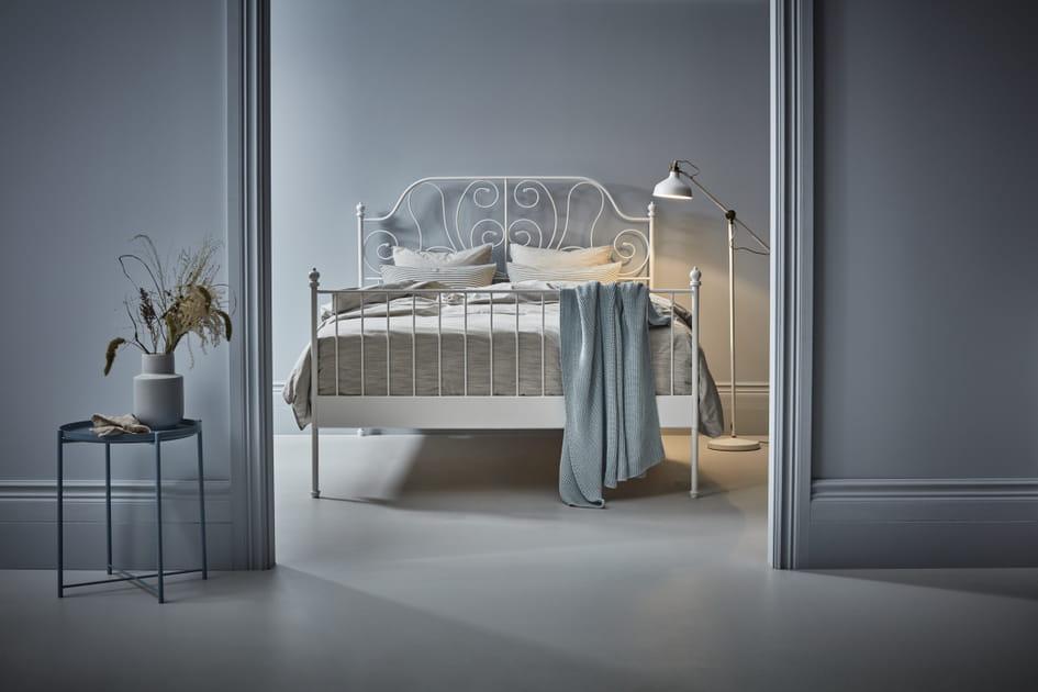 Cadre de lit en fer forgé Leirvik d'IKEA