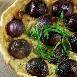 tarte aux oignons rouges caramélisés