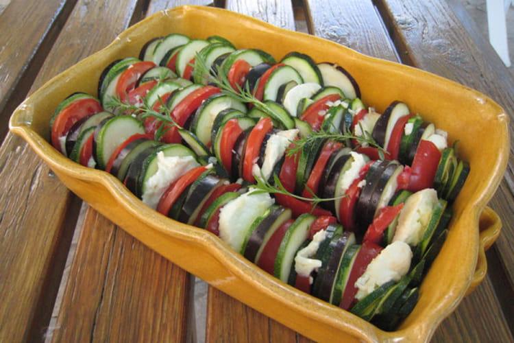 Tian de légumes du soleil à la mozzarella
