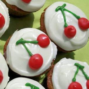 cupcakes aux cerises, glaçage cheesecream