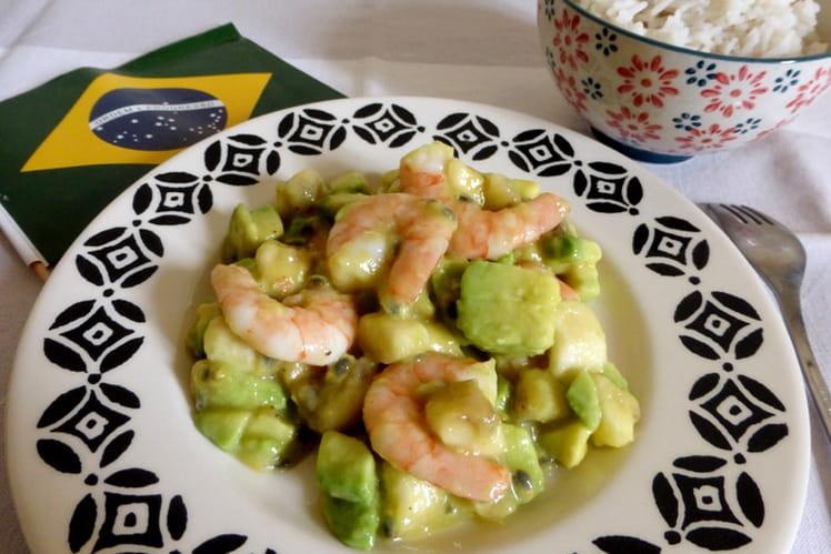 Salade de crevettes aux fruits de la passion