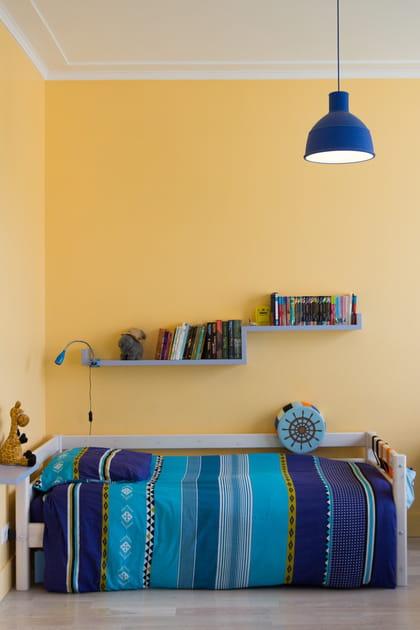 Du linge de lit turquoise et bleu
