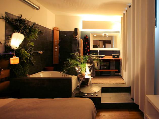 Salle de bains ouverte sur la chambre - Salle de bain ouverte sur chambre ...