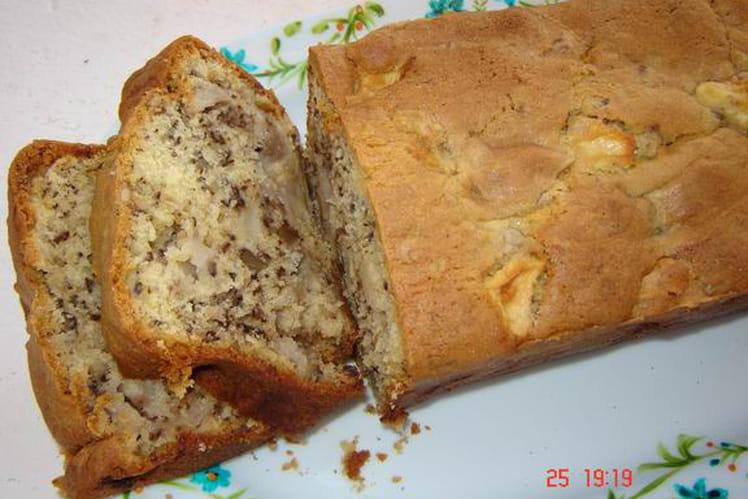 Cake aux pommes et aux noix