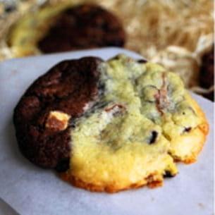 cookies marbrés double chocolat