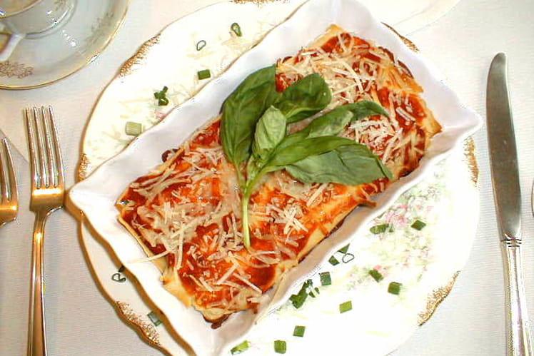 Crêpes au fromage et à la tomate