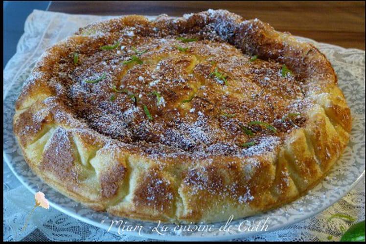 Gâteau magique citron-citron vert et noix de coco