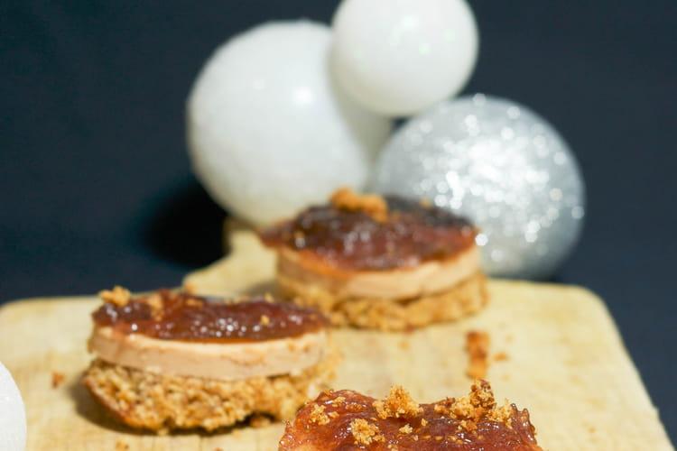 Foie gras, pain d'épices et gelée de figues