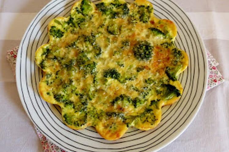Quiche sans pâte aux brocolis