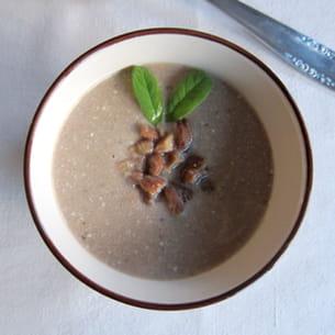 soupe à la châtaigne et à la sauge