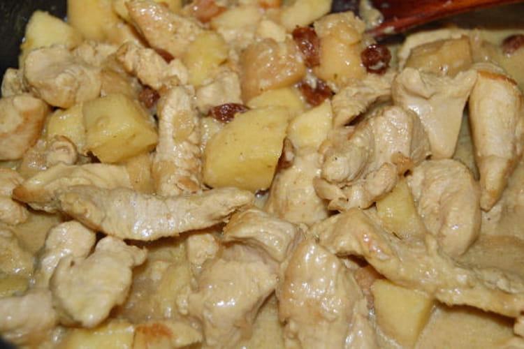 Curry de volaille aux pommes