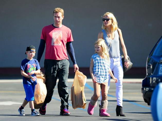 Gwyneth Paltrow et Chris Martin : shopping en famille