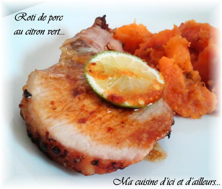 Recette de r ti de porc au citron vert la recette facile - Recette paupiette de porc facile ...