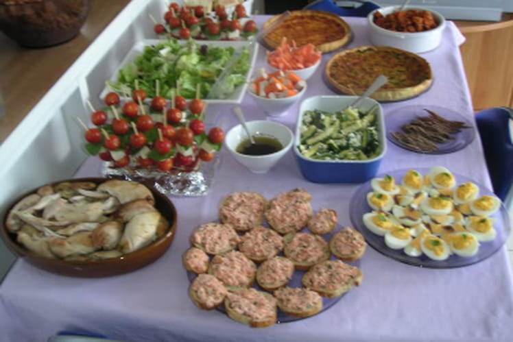 Mon buffet d'anniversaire