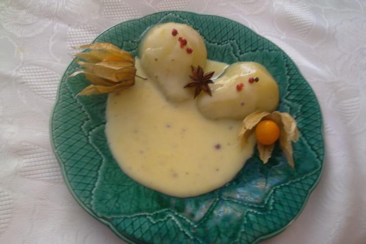 Poires en crème épicée