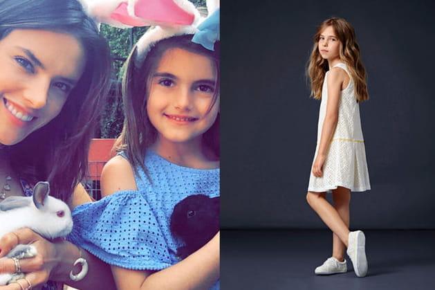 Une robe en broderie pour la fille d'Alessandra Ambrosio