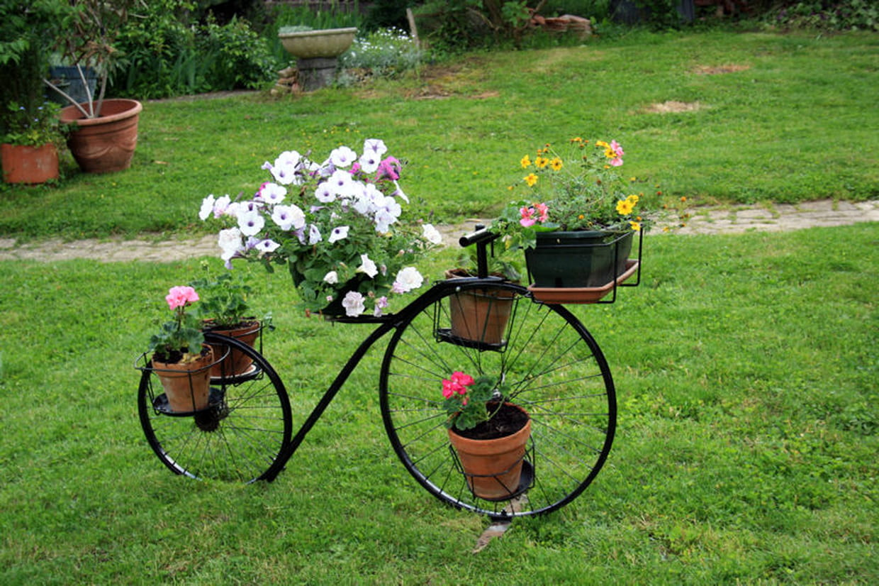 A bicyclette for Decoration jardin velo