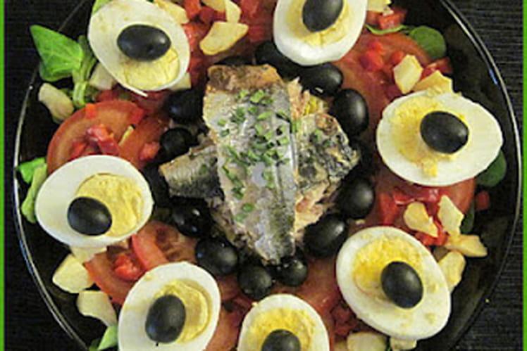 Salade complète aux poissons