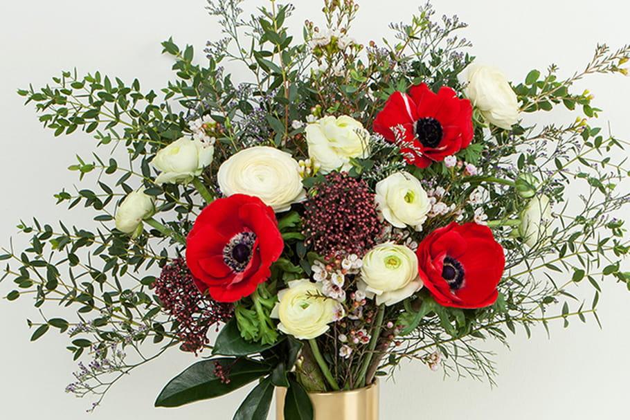 Flowerness X Maison Kitsuné créent un bouquet pour la Saint-Valentin