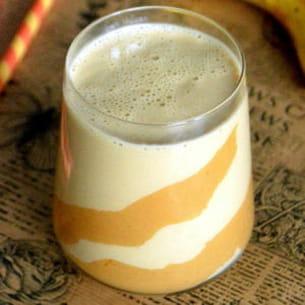 smoothie crémeux au beurre de cacahuète