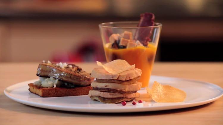 recette de foie gras po l velout de potimarron feuillet au carpaccio de foie gras la. Black Bedroom Furniture Sets. Home Design Ideas