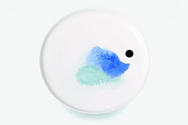 Assiette Aquarelle par Constance Guisset pour Monoprix