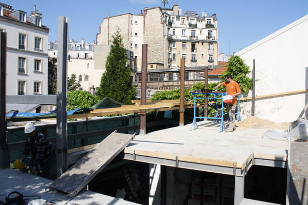 Construction de l'étage