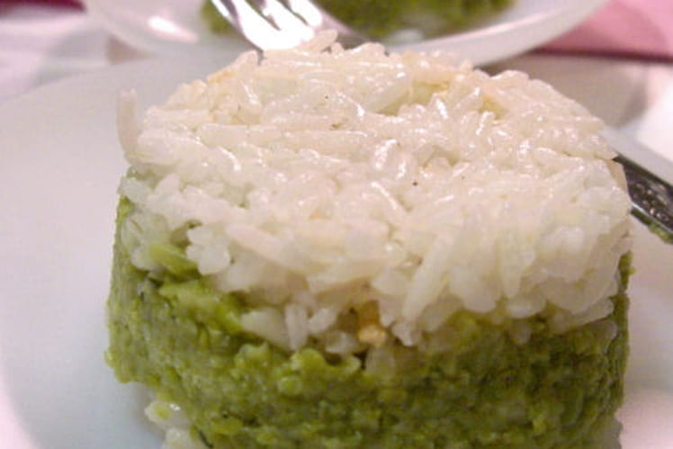 Timbale de riz aux petits pois