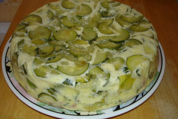 Flan de courgettes aux lardons et parmesan