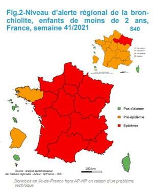 carte bronchiolite épidémie France