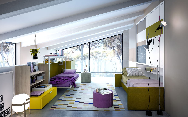 lit escamotable cabrio integrato par bimodal. Black Bedroom Furniture Sets. Home Design Ideas