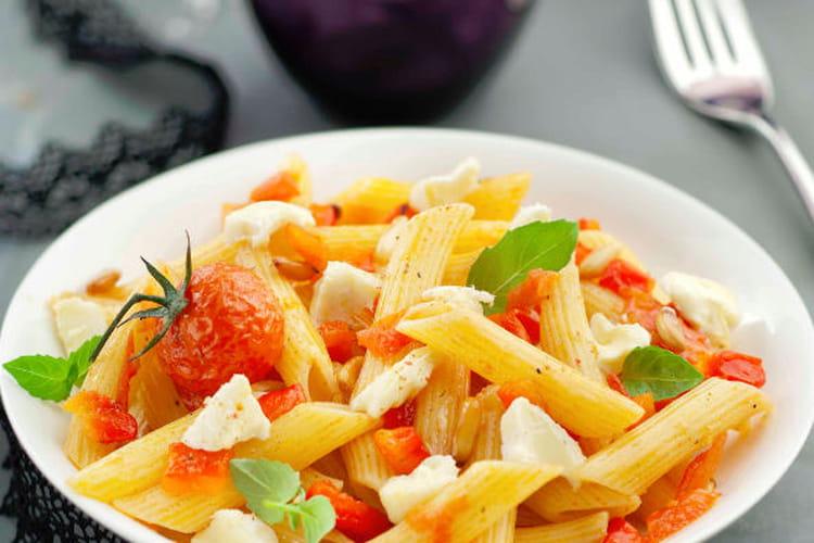 Penne tomates, poivrons et Boursault