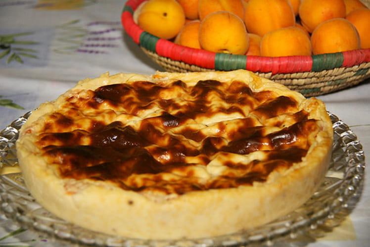 Flan pâtissier sans fond aux abricots