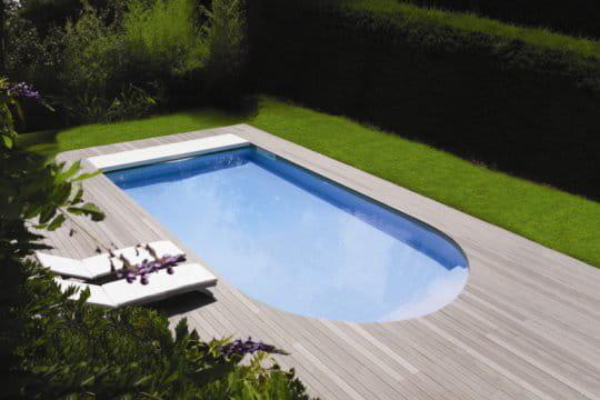 Une piscine au design résolument contemporain