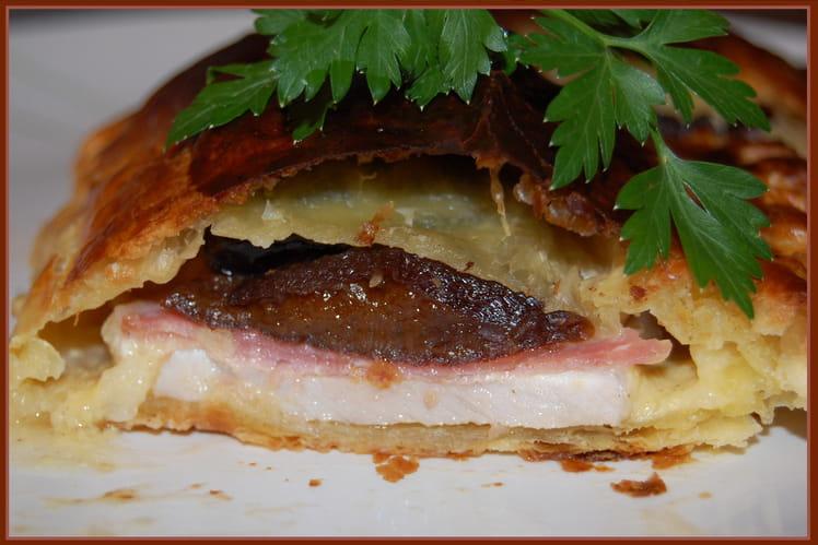 Escalopes de porc en croûte aux pruneaux