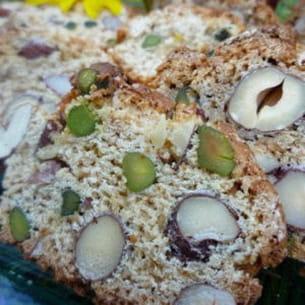 croquants aux miel, amandes, noisettes et pistaches