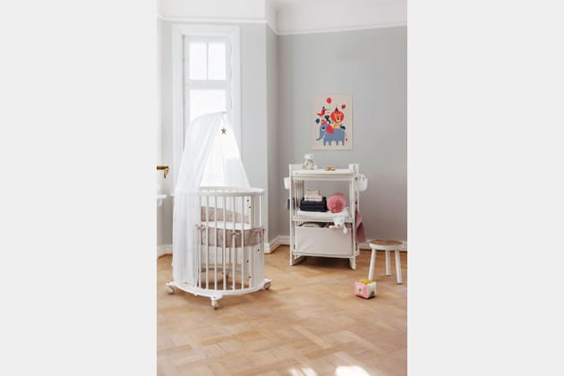 lit volutif stokke sleepi par stokke. Black Bedroom Furniture Sets. Home Design Ideas
