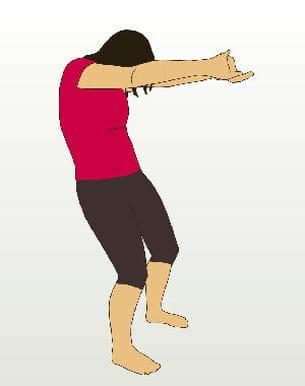 ce mouvement permet de mobiliser votre colonne et d'étirer votre dos.
