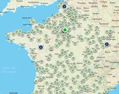 carte centre de vaccination covid france
