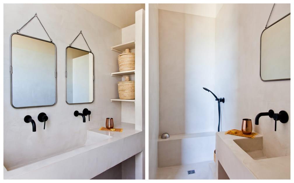 16façons d'adopter le béton ciré dans la salle de bains