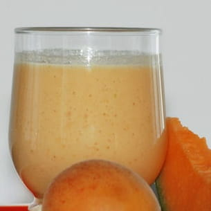 smoothie melon-abricot